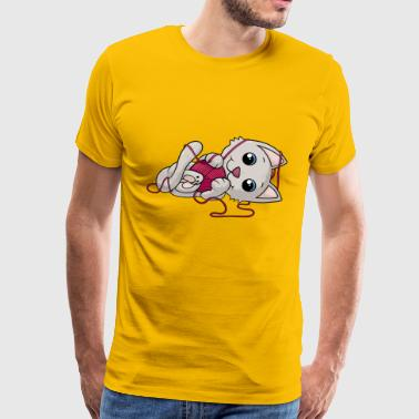 Zoete strip cat - Mannen Premium T-shirt