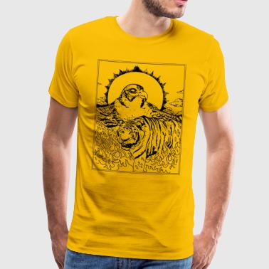 Tiger Falcon Concept - Men's Premium T-Shirt