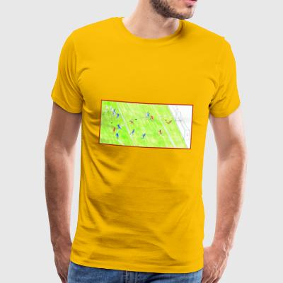 goal striker Giallorossi - Men's Premium T-Shirt