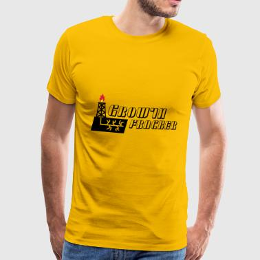 Growth Fracker - Herre premium T-shirt