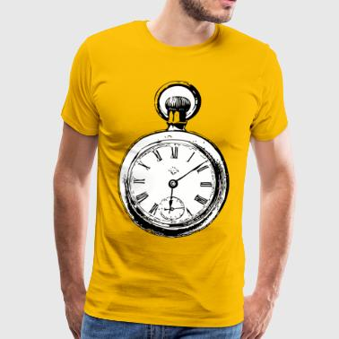 Vintage fob watch - Men's Premium T-Shirt