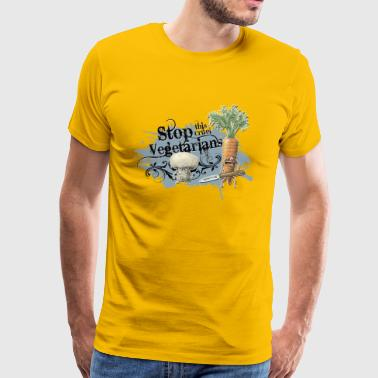 shirt motiv vegetable stop vegetarians blue marrow - Men's Premium T-Shirt