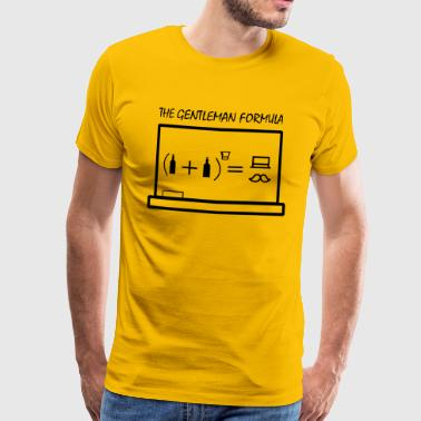 The gentleman formula - Männer Premium T-Shirt