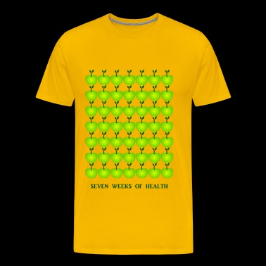 49 Apple's apple green yellow health apple apples - Men's Premium T-Shirt