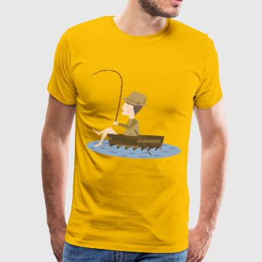 A fisherman and his catch - Men's Premium T-Shirt