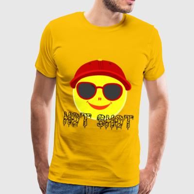 Smiley with cap summer hot sunshine heat glasses - Männer Premium T-Shirt