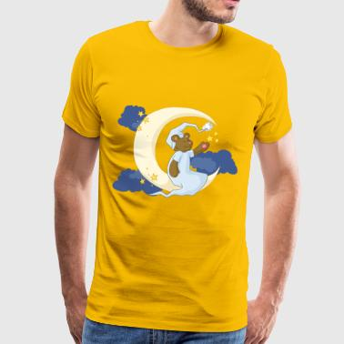The bear in the moon - Men's Premium T-Shirt