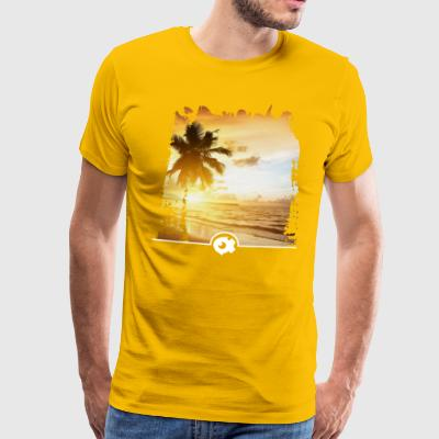 Beach with palm tree - Men's Premium T-Shirt