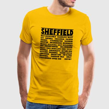 Sheffield City - Camiseta premium hombre