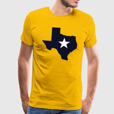 Texas State Outline stjerne - Premium T-skjorte for menn
