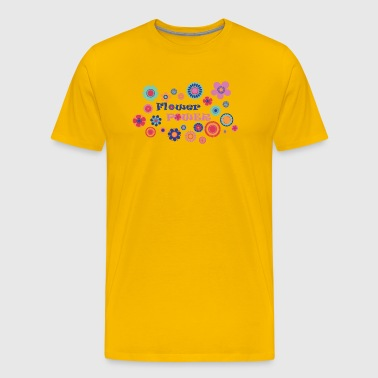 Flower power - Premium-T-shirt herr