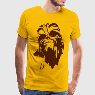 chewbacca monster bont haar star friend baard lase - Mannen Premium T-shirt