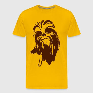 chewbacca monstre fourrure cheveux star ami barbe lase - T-shirt Premium Homme