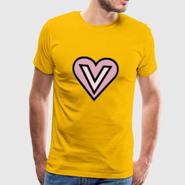v for vegan pink - Men's Premium T-Shirt