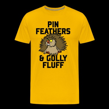 Archimedes - Pin feathers and golly fluff - Premium-T-shirt herr