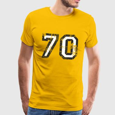 Nummer 70 Seventy 70th Birthday Design (DK) - Herre premium T-shirt