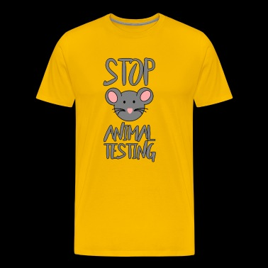 STOP ANIMAL TESTING MOUSE - Men's Premium T-Shirt