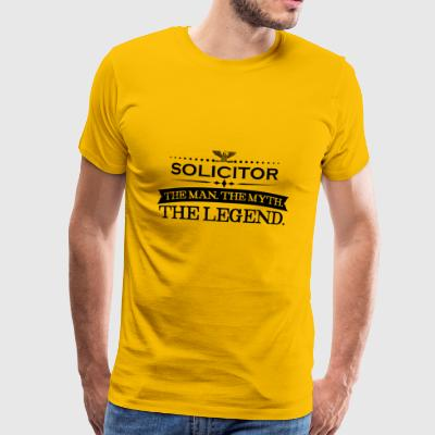 Man myth legend gift SOLICITOR - Men's Premium T-Shirt