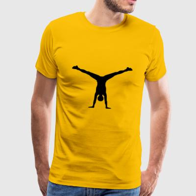 2541614 10971447 yoga - Premium T-skjorte for menn