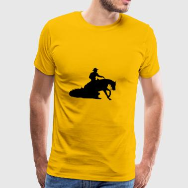 Sliding Stop Western Riding - Men's Premium T-Shirt