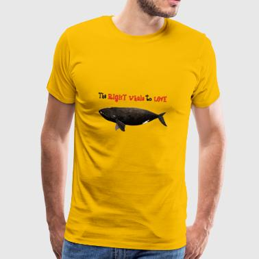 The right whale to love - Ballena franca - baleine - Men's Premium T-Shirt