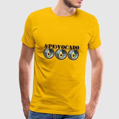Apevocado - Three Monkeys Avocado Vegan Gift - Premium T-skjorte for menn