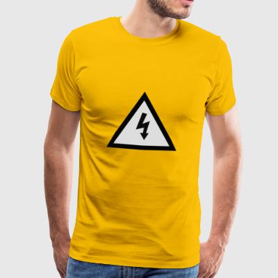 electricity danger signal - Men's Premium T-Shirt