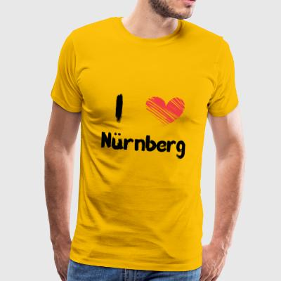 I love Nuremberg - Men's Premium T-Shirt