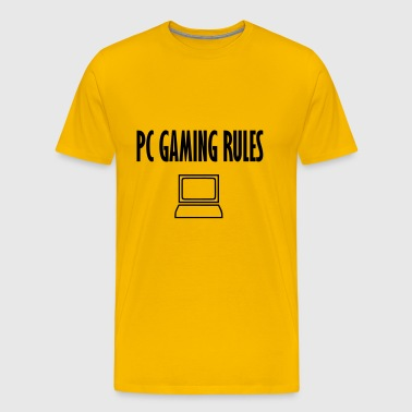 pc gaming rules - Men's Premium T-Shirt