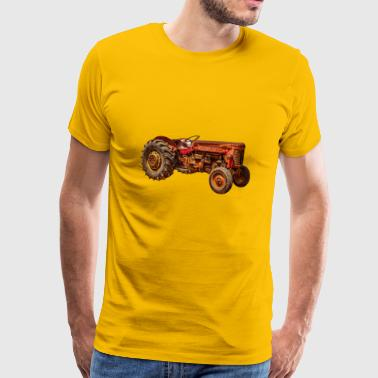 red tractor classic car - Men's Premium T-Shirt