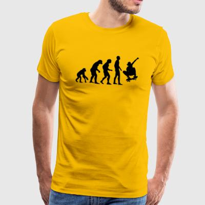 Human Evolution Skateboarding - Men's Premium T-Shirt