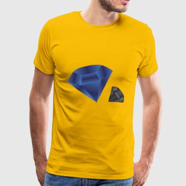 Blue Diamond Dark - Mannen Premium T-shirt