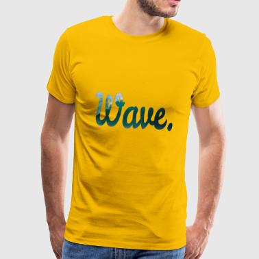 Wave. - Premium-T-shirt herr