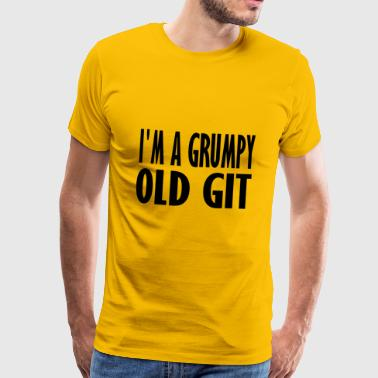 grumpy old git - Men's Premium T-Shirt