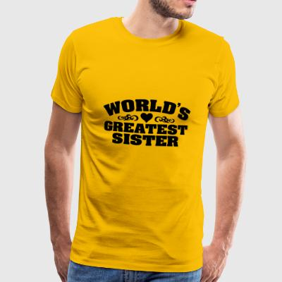 Worlds Greatest Sister - Herre premium T-shirt