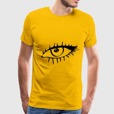 Eye drawing gift idea see eyelash iris - Men's Premium T-Shirt