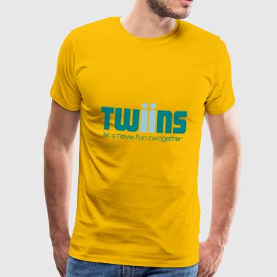 Twins logo ensemble - T-shirt Premium Homme