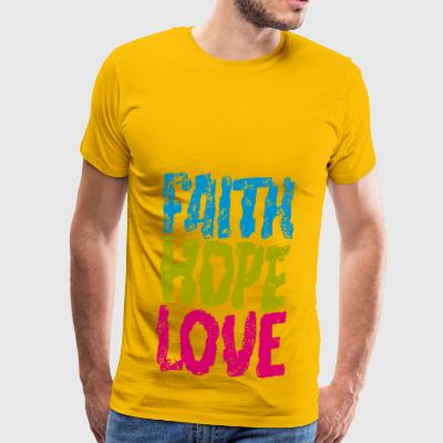faith hope love - Männer Premium T-Shirt