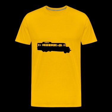 school bus coach omnibus school bus traffic8 - Men's Premium T-Shirt