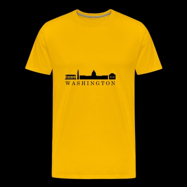skyline van washington - Mannen Premium T-shirt