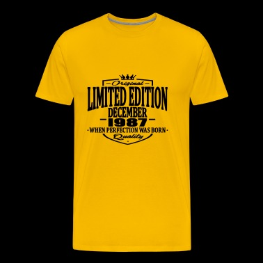 Limited edition december 1987 - Men's Premium T-Shirt