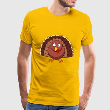 Truthahn Thanksgiving - Männer Premium T-Shirt