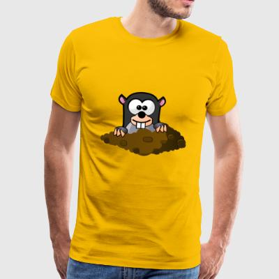 cute mole - Men's Premium T-Shirt