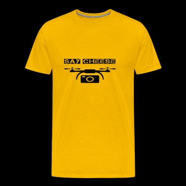 drohnen drone drohne say cheese camera foto - Männer Premium T-Shirt