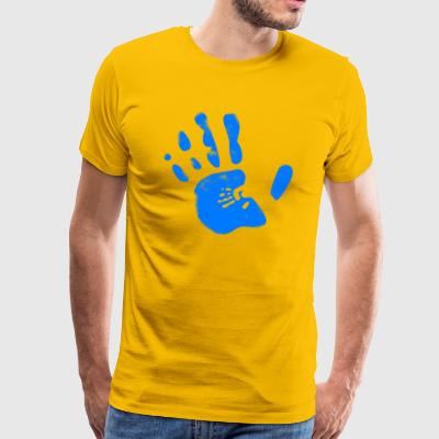 Blue hand - Men's Premium T-Shirt