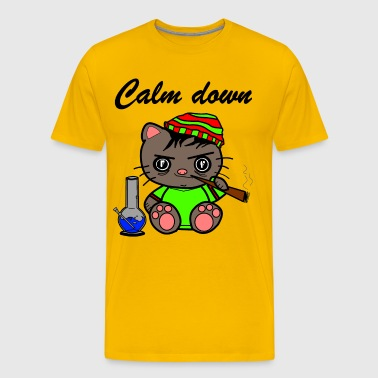 Calm down cat - Men's Premium T-Shirt
