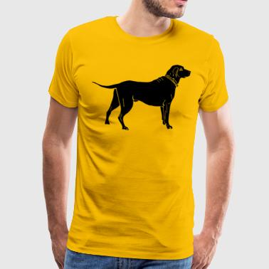 Dog in black - Men's Premium T-Shirt