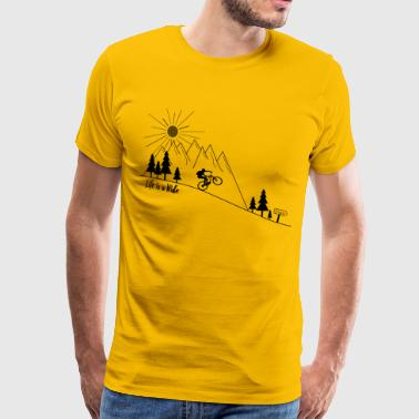 MTB Mountainbike Manual - Camiseta premium hombre