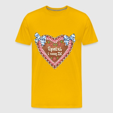 Gingerbread heart - Spatzl i mog Tues - Men's Premium T-Shirt