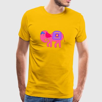 Pink Elephant for - Premium T-skjorte for menn